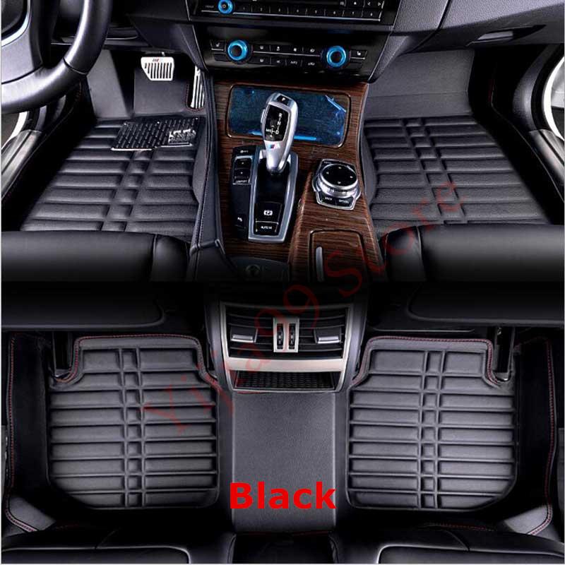 Black 3D Car Floor Mats FloorLiner For Peugeot 308 2012 2013 2014 2015 Auto Waterproof Front & Rear carpet Mat Rugs