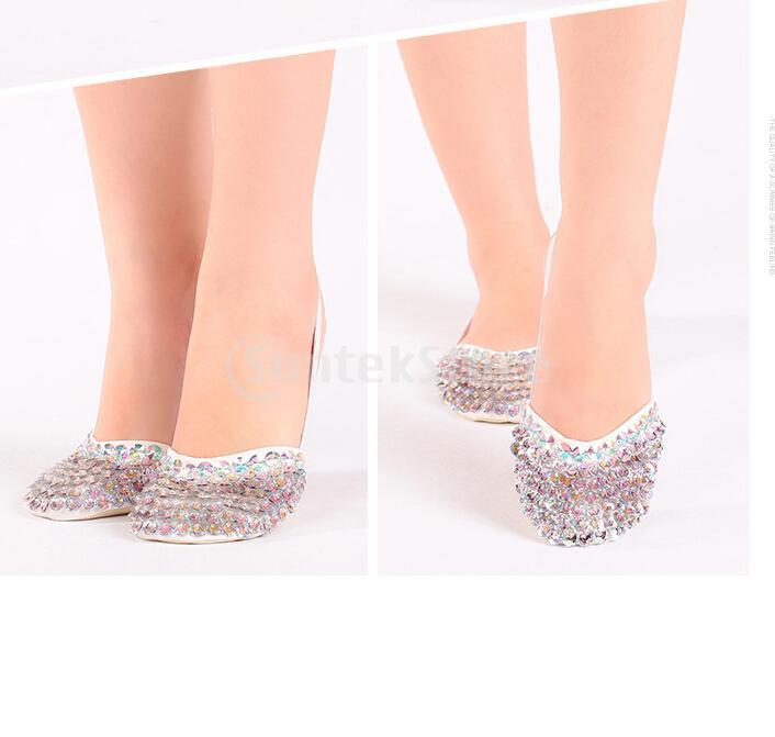 여성 하프 솔 발레 댄스 발가락 신발 pointe 신발 리듬 체조 슬리퍼 s/xs