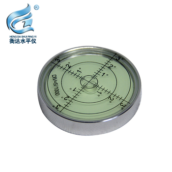 Vientiane level high precision fan small circular level level bubble metal level bubble portable horizontal bubble aneng 32x7mm bulls eye bubble degree marked surface spirit level for camera circular