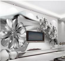 ФОТО 3d wall murals wallpaper black and white flower custom wallpaper mural 3d wallpaper 3d wall papers for tv backdrop