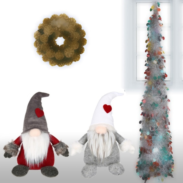 swedish christmas santa claus home decor tomte standing long hat gnome plush doll christmas decorations for