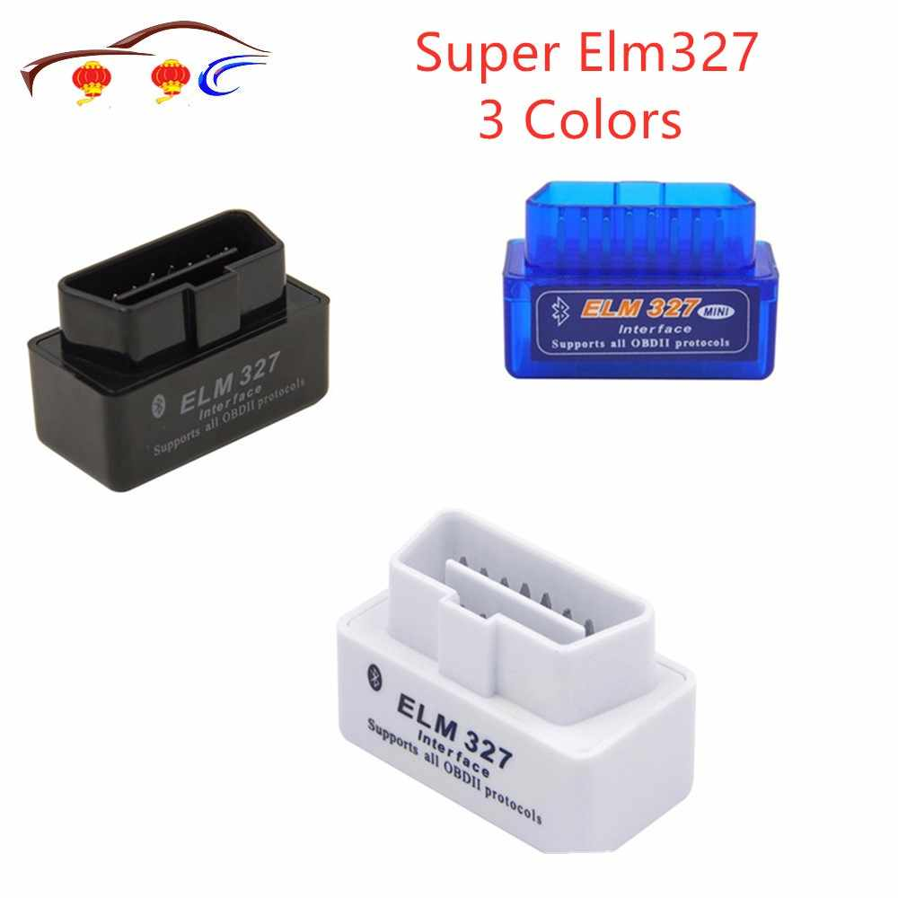 2019 nouveau Mini OBD ELM327 Bluetooth V2.1 OBD2 Auto Scanner OBDII 2 voiture ELM 327 testeur outil de Diagnostic pour Android Windows Symbian