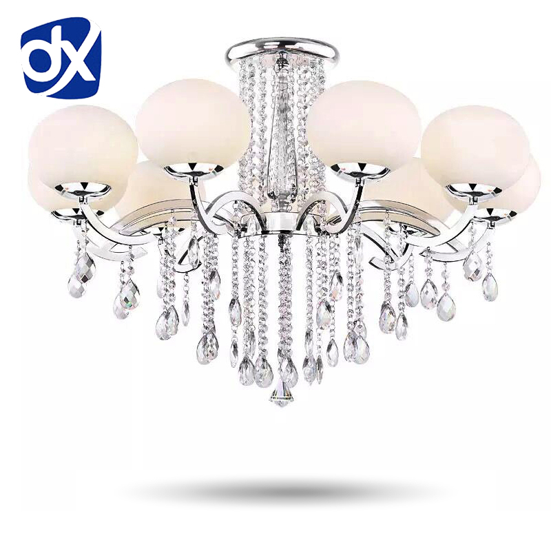 Modern Chandelier Crystal Lighting Glass Lampshade Indoor Living Room Lighting Decorative Fixture
