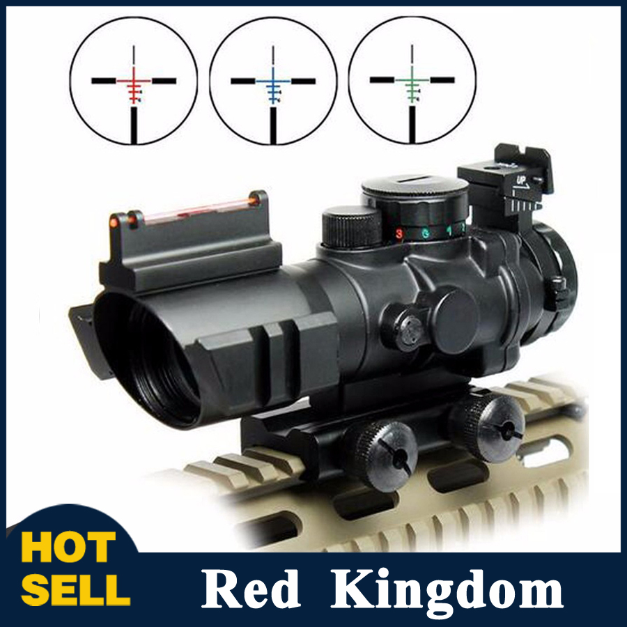 2 Style 4x32 RGB Reticle Tri-Illuminated Sniper Compact Scope Red/Green Fiber Optical Sight Etched Glass Tactical Riflescopes free shipping 10pcs 100% new scanpsc100f