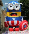 Free shipping, H6M high inflatable captain America despicable me inflatable minion cartoon for sale,without air blower