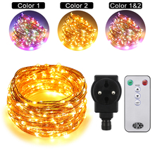 Dual-Color-30M 300LEDs Copper Wire LED String Lights Starry For wedding Fairy Lights+UL CE Certified (US/EU/UK)Adapter