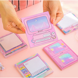 Creative Computer Memo Pad Self-adhesive Planner Stickers Cute Kawaii Sticky Notes Notepad School Office Stationery Supplies