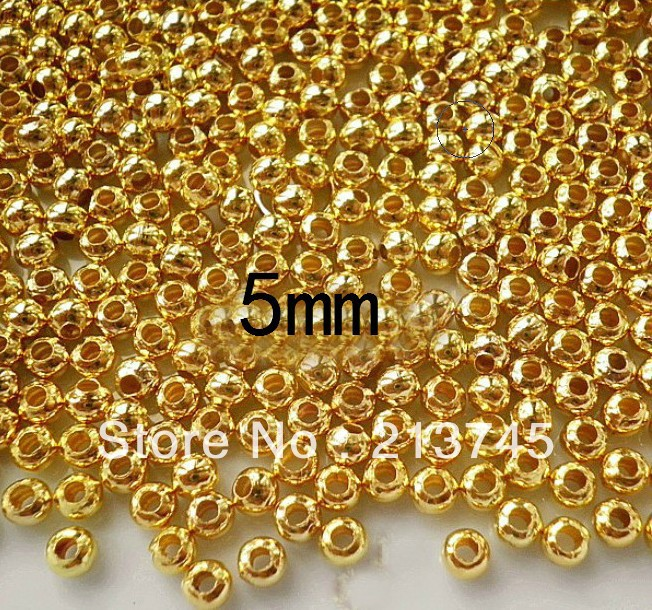 70e34295144 ... new arrival c9918 38d28 Free shipping good 2000pcslot 5mm gold plated  smooth round metal spacer beads ...