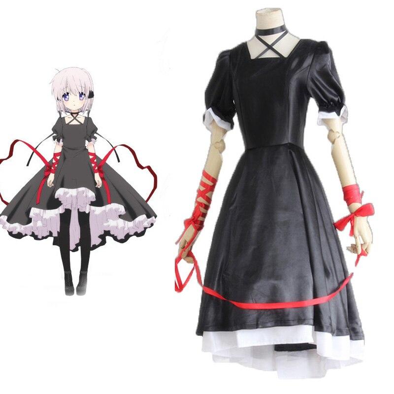 rewrite kagari kawaii cosplay costume gothic lolita
