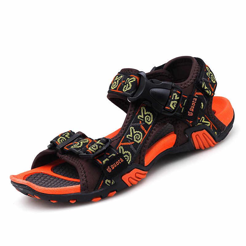 VSIOVRY/Новинка 2018 года; Модная Летняя Повседневная пляжная обувь; мужские сандалии; высококачественные брендовые тапочки с мягкой подошвой; мужские сандалии; нескользящие