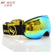 Photochromic esqui benice spherical motocross fog goggles snow snowboard anti lens