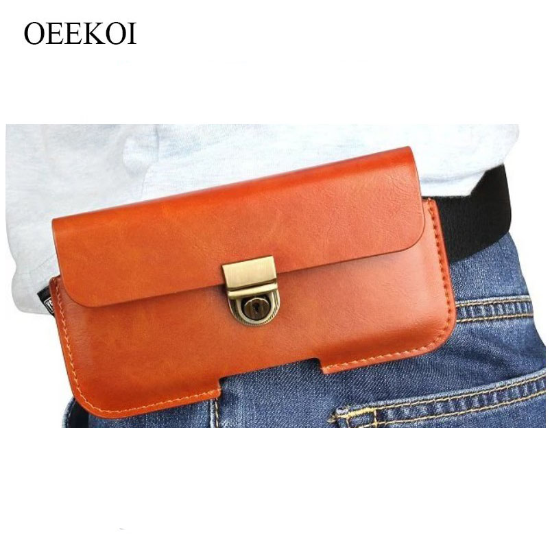 Oeekoi Pu Leather Belt Clip Pouch Cover Case For Lava A76+/a51/a68/flair S1/a76/a59 4.5 Inch Cellphones & Telecommunications Phone Pouch
