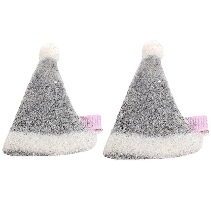Новый 2 шт. детские для маленьких девочек милый сладкий мультфильм Рождество шляпы зажим для волос комплект очаровательный головной убор