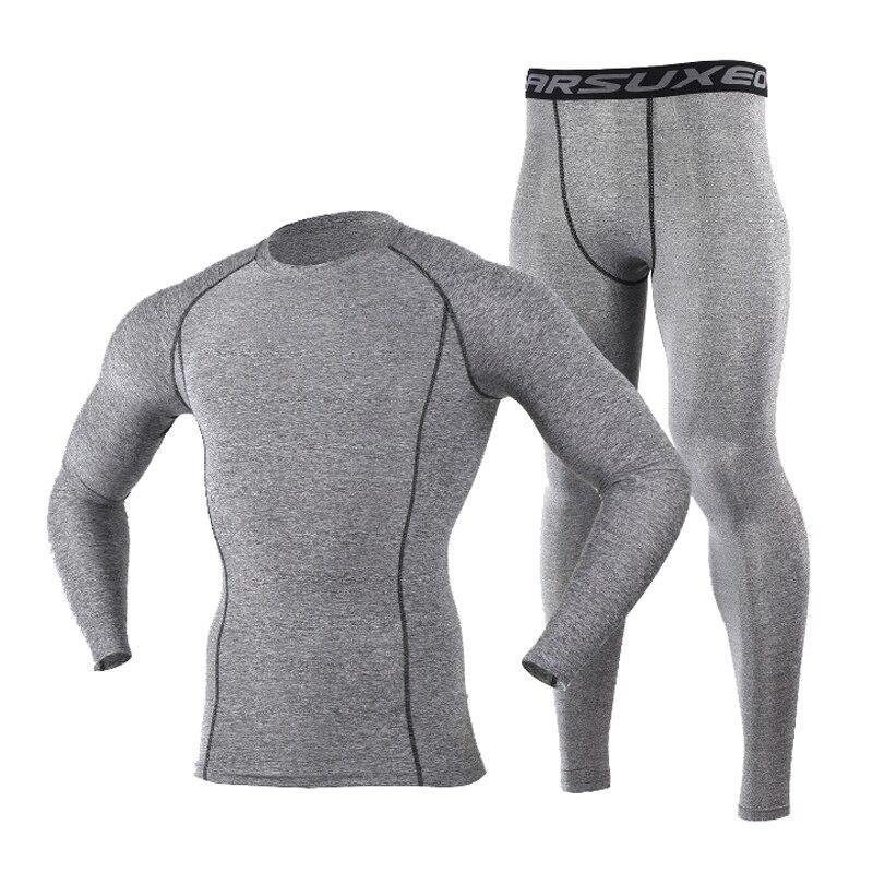 Abbigliamento di base per ciclista di Compressione Calzamaglie Strato di Base Corsa e Jogging Fitness Bodybuilding Uomini Abbigliamento DA PALESTRA Magliette e camicette e Vestito di Mutanda