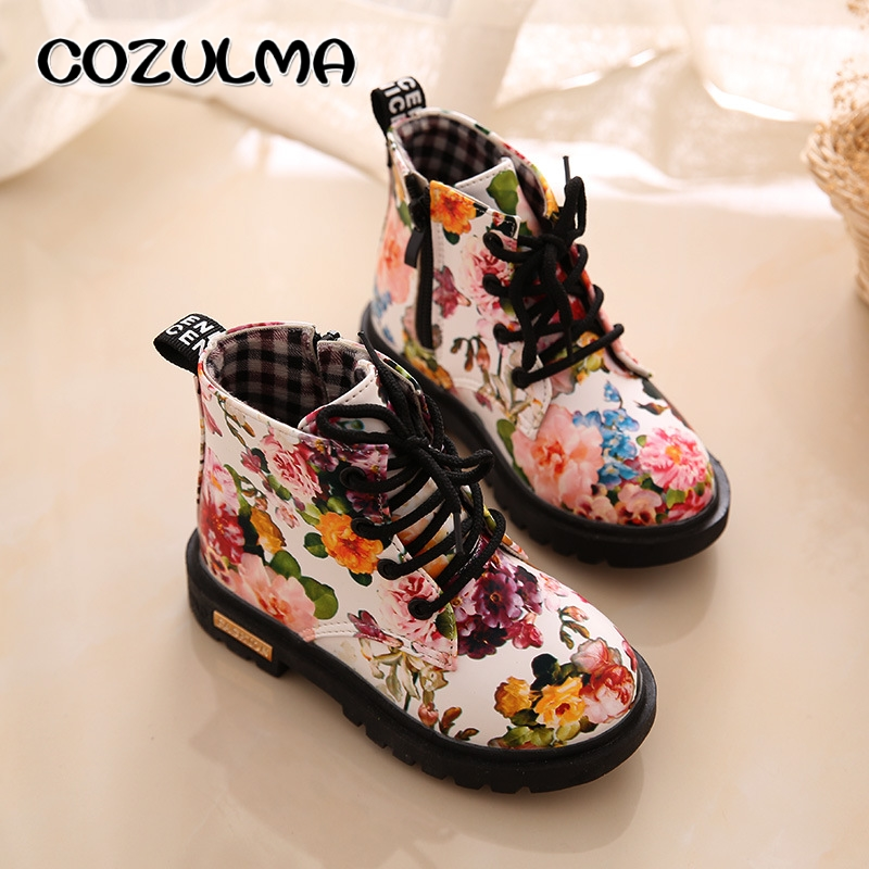 COZULMA-Kids-Boots-for-Girls-Boys-Elegant-Floral-Flower-Print-Boots-Children-Boots-Shoes-Baby-Toddler-Martin-Boots-Kids-Sneakers-4