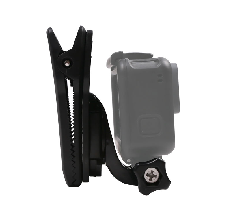 360 Degree Rotation Clip Backpack Hat Clip Clamp With J Hook Mount for Gopro Hero 6 5 4 3+ 3 2 1 SJCAM SJ4000 Xiaomi Yi Sports Action Camera (5)