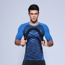 Mens trainning and exercise t shirts tight t shirt compression shirt half sleeve t shirt fitness.jpg 250x250
