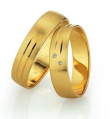 Пользовательские желтый позолота здоровья titanium классические обручальные Обручальные кольца наборы для пары