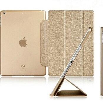 Luxury Stand Leather Case For iPad mini 1  2 3 4 Retina Silk Slim Clear Transparent Smart Back Cover for Apple iPad Mini 4 3