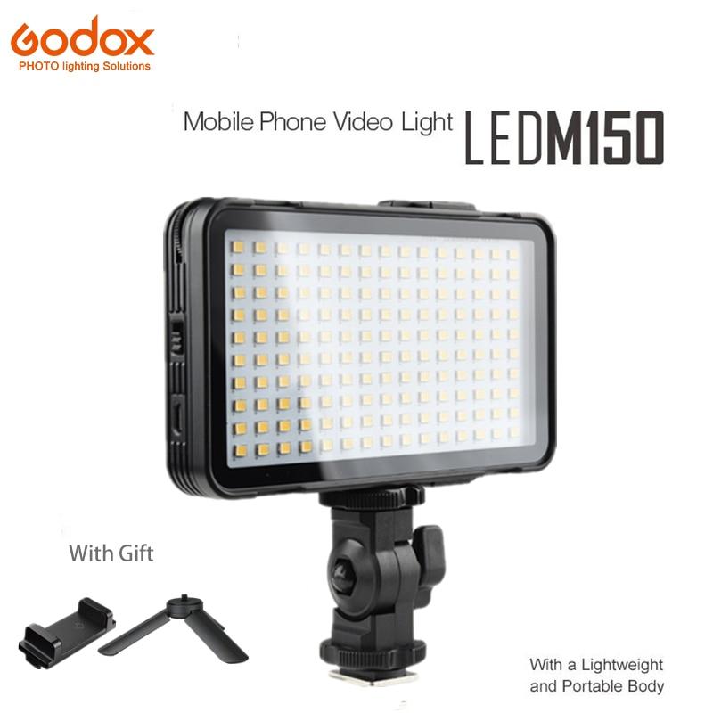GODOX LED M150 LED M150 Selfie lampe de lumière 5600 K couleur blanche panneau de LED pour Iphone téléphone intelligent caméra vidéo maquiagem photo