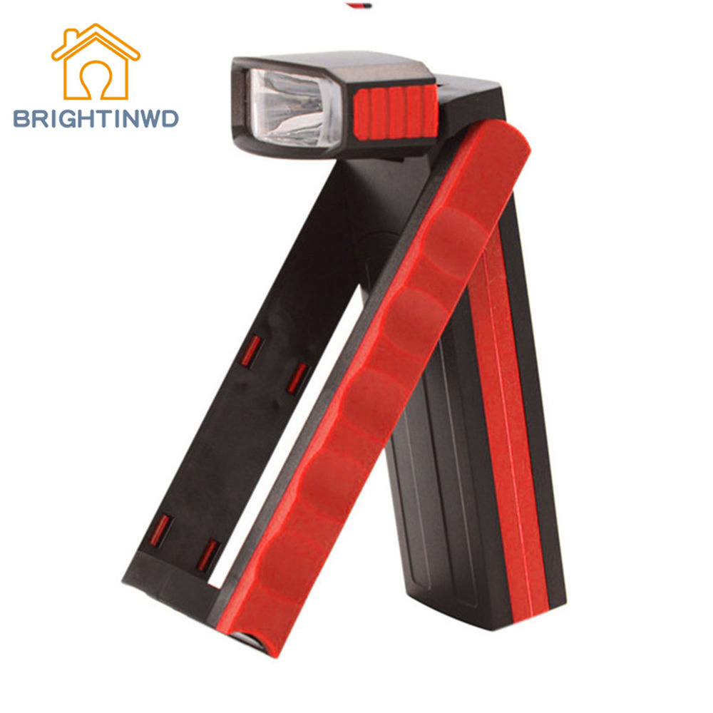 BRIGHTINWD Outdoor Camping Flashlight with Strong Light 4LED Headlight Maintenance Multifunctional Working Light with Magnetic