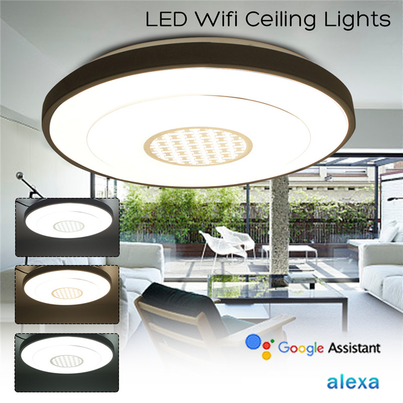 Indoor 36led Led Dimmable Lamp Ceiling Panel Down Light Fixture Wifi Control Google Alexa Bedroom Living Room Ceiling Lights & Fans