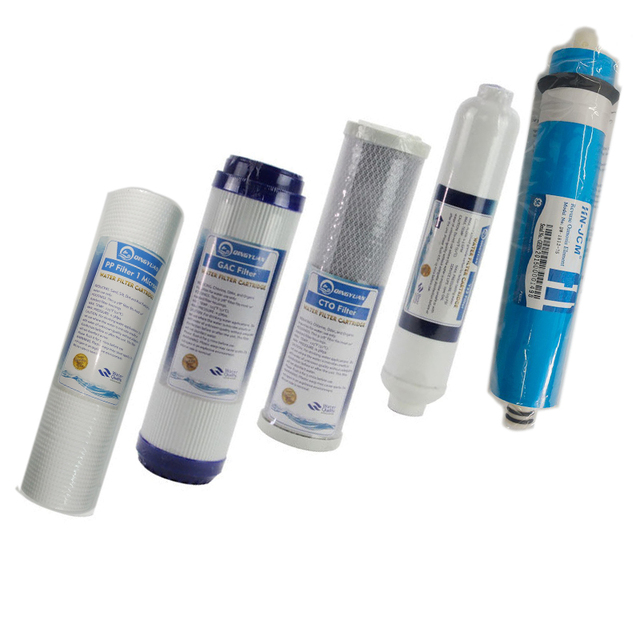 49a700799a6 5 MICRON PPF+GAC+CTO+RO+T33  (USA GE 100GPD RO )WATER FILTER TASTE ODOR  CARBON FILTER FOR 5 STAGE REVERSE OSMOSIS Water Purifier