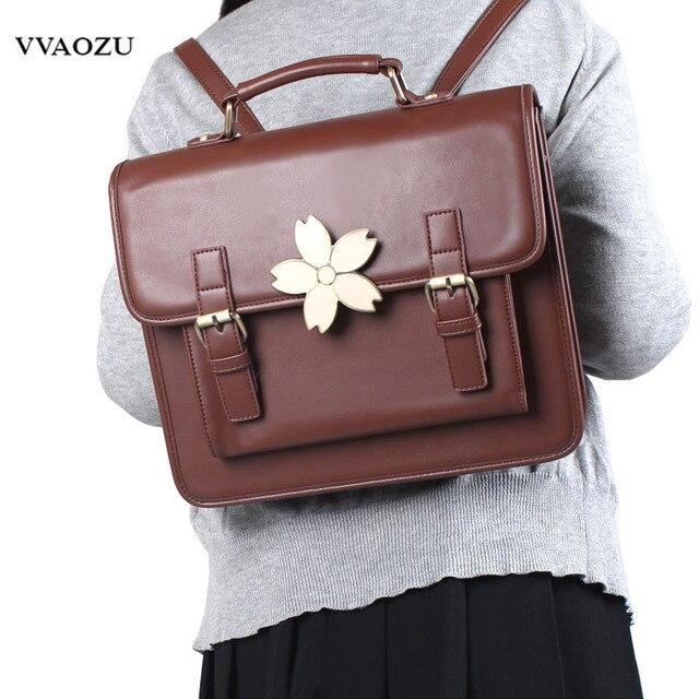 Livraison gratuite japonais Harajuku Style mode femmes sacs à main sacs à main PU Preppy cartables cartable