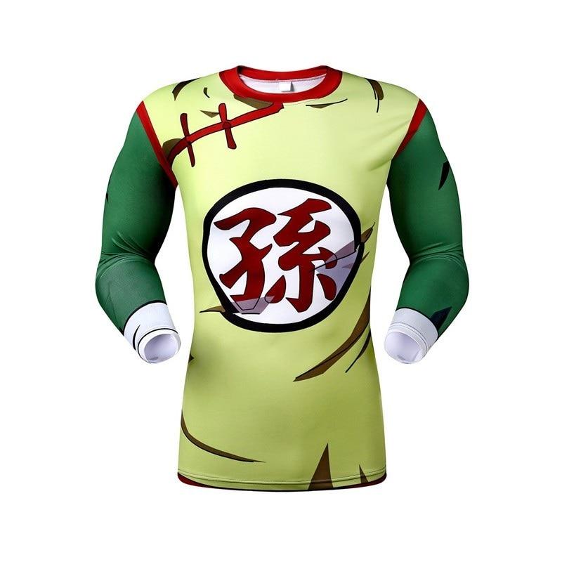 New Halloween Fun Animation Compression Lycra Dragonball Long Sleeved Tights Qiu Dong Season Render Clothes Free Shipping