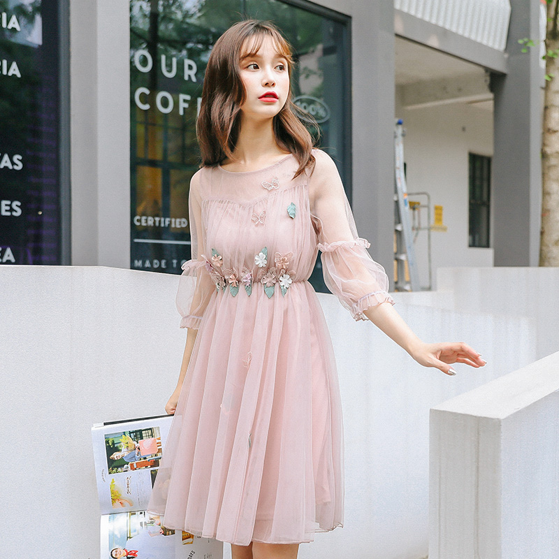 19d89f960a4 Detail Feedback Questions about Women s Dresses Japan Kawaii Lady Flower  Super Fairy Mesh Dress With Harness Inside Female Cute Korean Harajuku  Cloth For ...