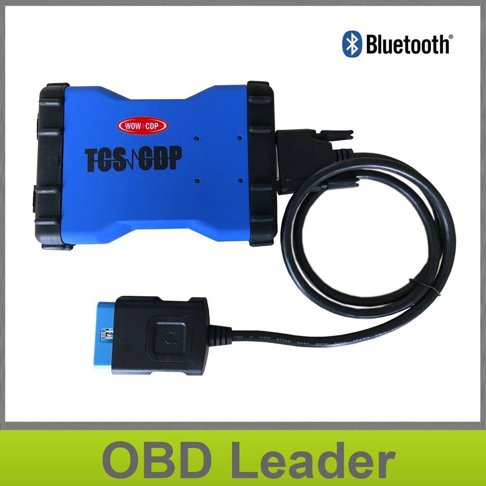Prix pour 5 pcs/lot Le Plus Bas Prix VD TCS CDP + Bluetooth WOW SNOOPER 2015R3/2014R3 Nouveau VCI OBD2 OBDII Outil De Diagnostic pour Voitures Camions