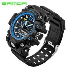Модные водостойкие мужские спортивные часы Relogio Masculino 2017 мужские силиконовые спортивные часы противоударные электронные наручные часы