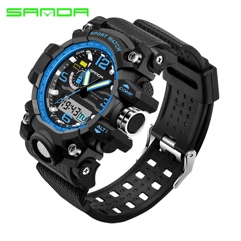 Fashion Waterproof Mens Sports Watches Relogio Masculino 2016 Men Silicone Sport Watch Shockproof Electronic Wristwatch 7 color video door phone intercom system 1 monitor doorbell 2 camera intercom kit ir night vision camera for apartment 816a21