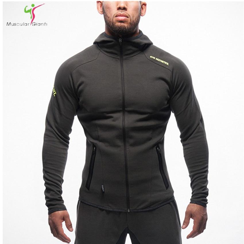 2017 Hoodies camisetas masculina hombre coat Bodybuilding and fitness hoodies Sweatshirts Muscle men's sportswear