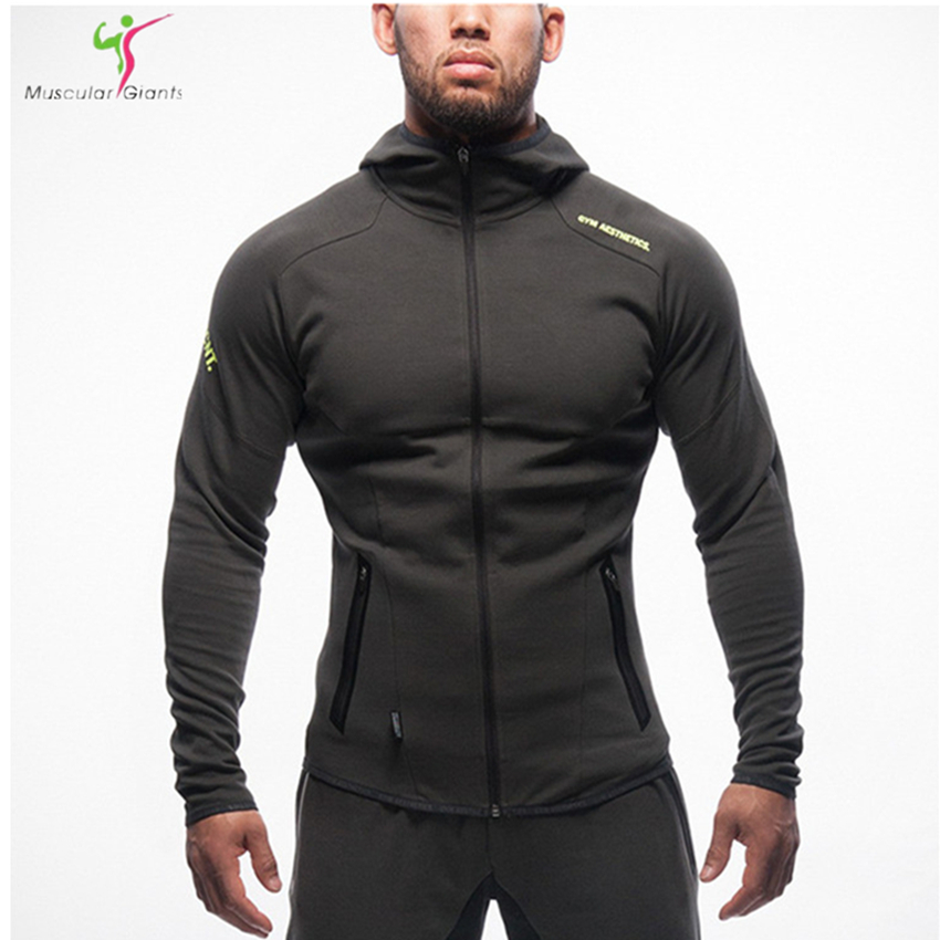 Mens Bodybuilding Hoodies Gym Brand Clothing Workout Shirts Hooded Sport Suits Tracksuit Men Chandal Hombre Gorilla