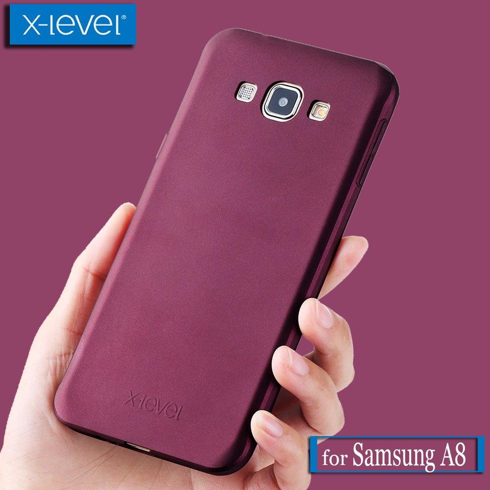 Для Samsung Galaxy A8 чехол X-уровень Guardian ультра тонкий матовый Мягкий Силиконовый ТПУ Телефон задняя защитная крышка для samsung A8