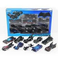 10pcs/box hotwheels lot mini scale slide model cars classic toy Batman Motorcycle car metal hot track kids toys Collection gift