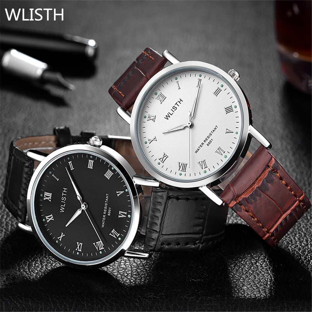 (sihai)Top Brand Men Watches Fashion Military Quartz Wristwatches Luxury Genuine Leather Watches Waterproof Relogio Masculino