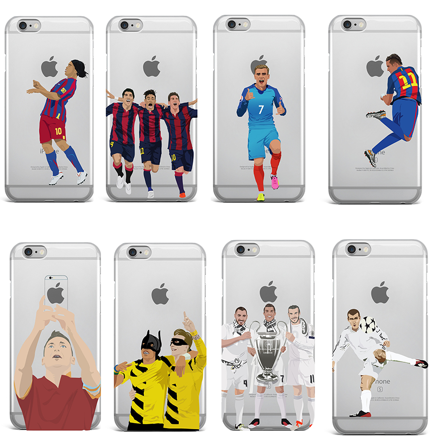 Ultra Thin Football Clear Phone Cases Coque for iPhone4 4S 5 5S SE 6 6S 7