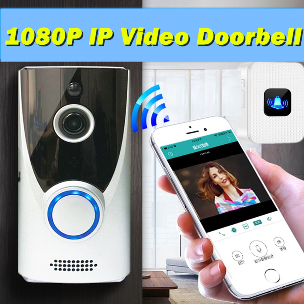 UCYBO wifi video doorbell 1080P HD wireless video intercom home security ip camera Infared IR pir alarm video door phone