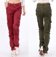 New arrival Women's Cargo Pants Leisure Trousers Leisure more Pocket pants Woman Bottoms