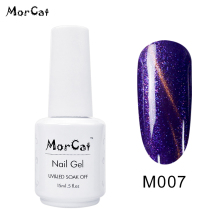 MorCat 15ml Gel Nail Polish Super Shining Magic 15 Colors Cat Eye UV Use for Salon