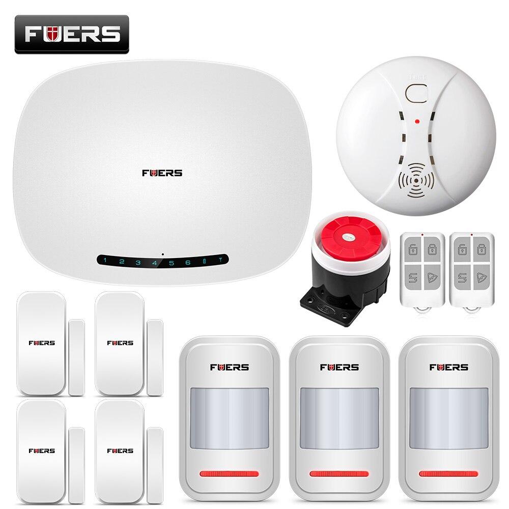 FUERS W19 TFT Kleurenscherm GSM Alarmsysteem Draadloze Detector Digitale Dual Core Technologie Infrarood Detector Import Sensoren - 2