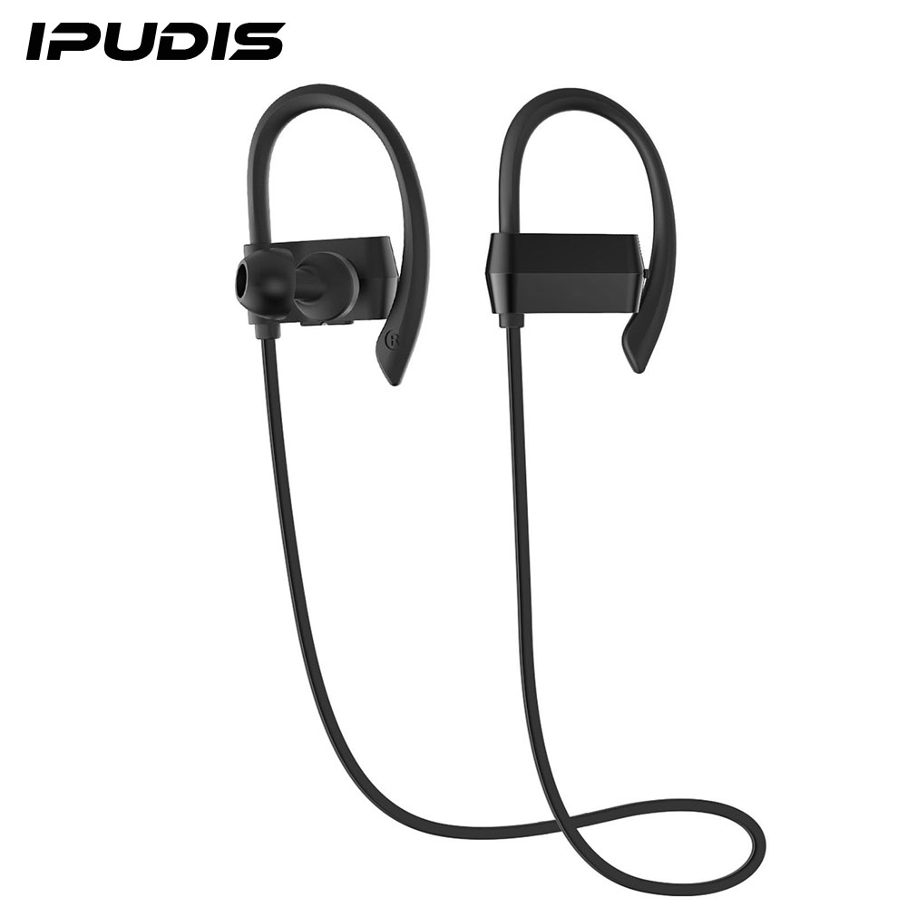 Ipudis Nano Coating Waterproof Bluetooth Earbuds Ear Hook Earphone Sport  Wireless Headset Portable Headphone(china