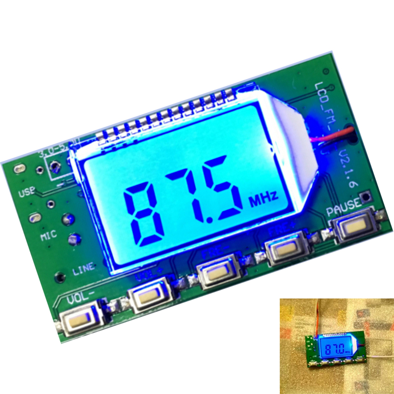 DSP PLL 87-108MHz Stereo FM Transmitter Module Digital Digital Wireless Microphone Board Multi-function Frequency Modulation