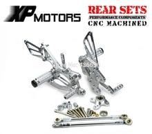 Silver CNC Billet Foot Control Kit Rearset Rear Sets For Honda CBR600RR 2003 2004 2005 2006