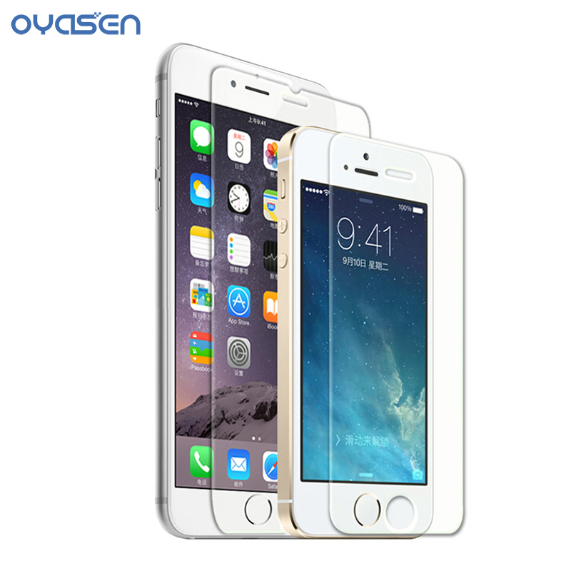 Explosion-Proof 9H Premium Tempered Glass Film for iPhone 6 6Plus 6s 6sPlus 7 7Plus Screen Protective Film for iPhone 5 5s 5c SE