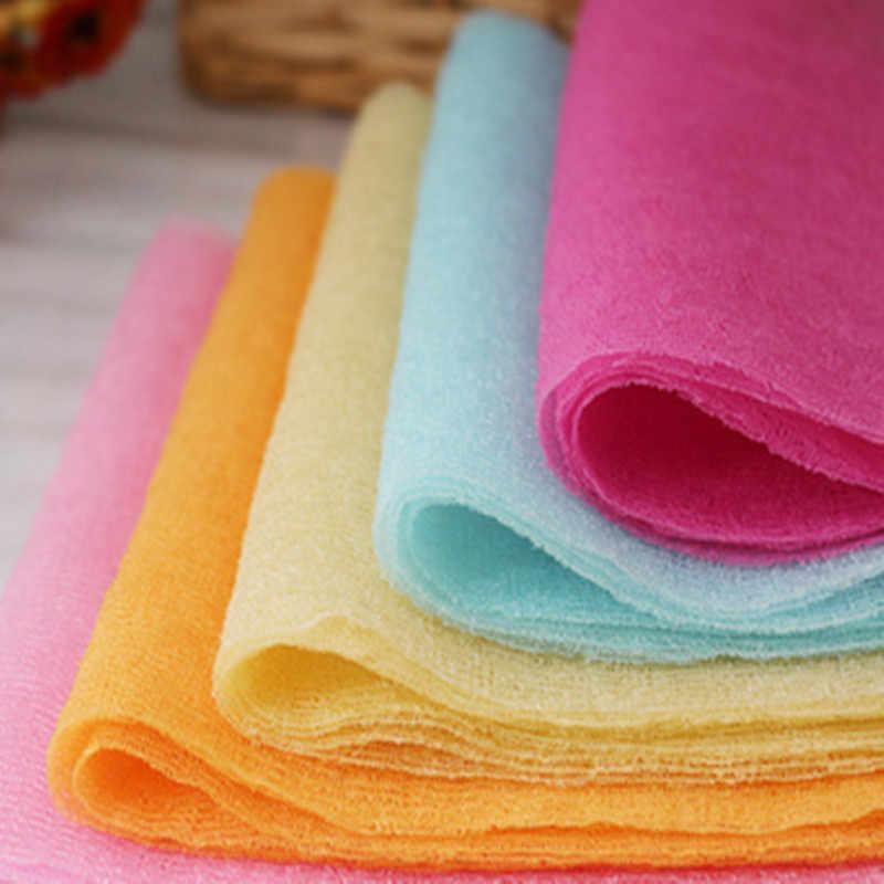 1pcs ผ้าเช็ดตัวแปรง/นวดทำความสะอาด Luva Bath Exfoliating Loofah สายคล้องคอ Bath ซักผ้าผ้าเช็ดตัว