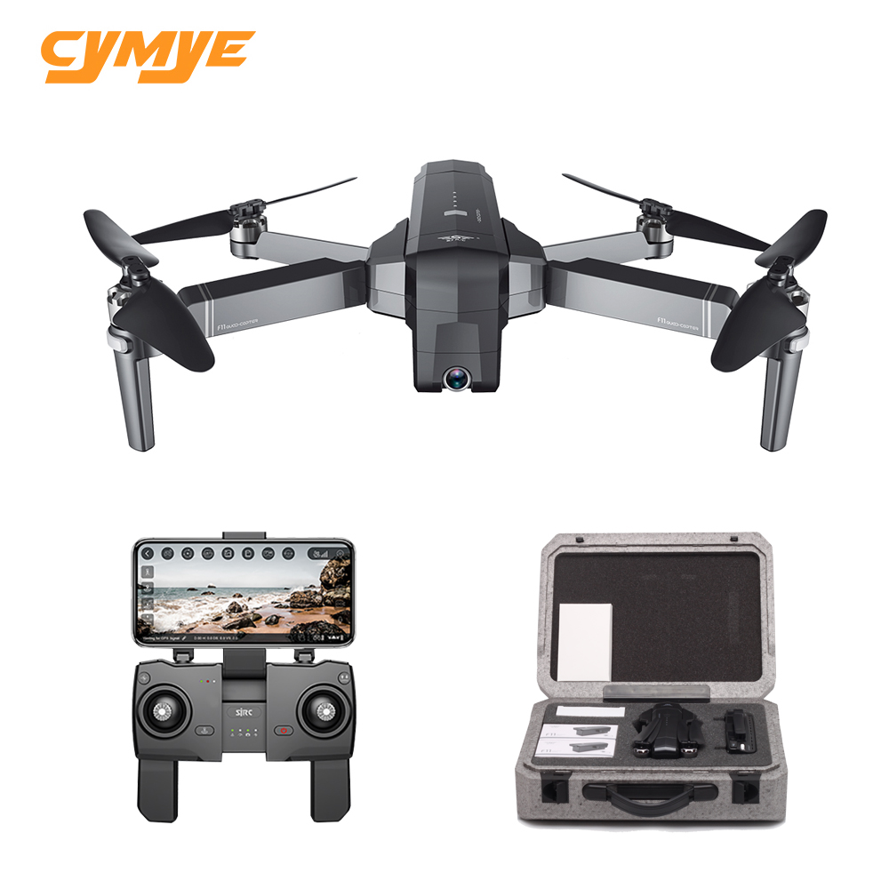 Cymye SJRC F11 GPS 5G Wifi FPV With 1080P Camera 25mins Flight Time Brushless Foldable Arm Selfie RC Drone Quadcopter