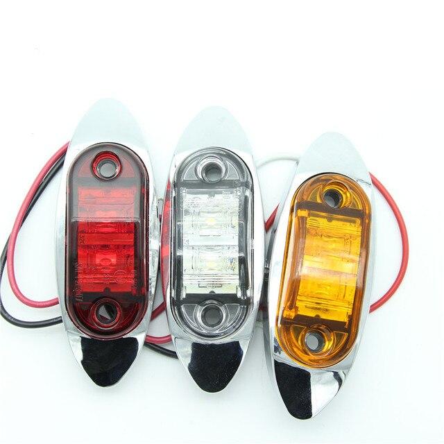 10 stks led zijmarkeringslichten licht lamp voor truck trailer verlichting met metalen beugel caravan rode amber